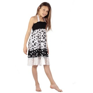Black white little hearts Black white ruffle dress