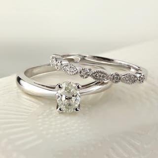Buy Oval Bridal Sets Online at Overstock.com | Our Best Wedding Ring ...