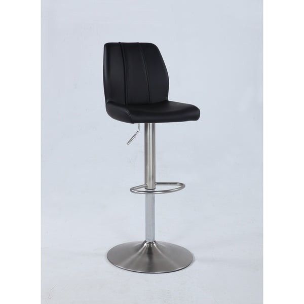 Somette Blakeley Adjustable Swivel Stool with Decorative Stitching