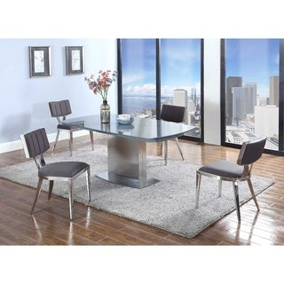 Christopher Knight Home Maya 5-piece Dining Set with Grey Textured Chairs