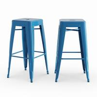 Aeon Furniture Galaxy Modern Industrial Stackable Metal Counter Stool Set
