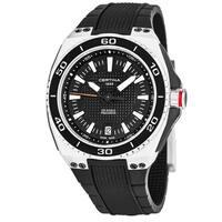 Certina Men's C023.710.27.051.00 'DS Eagle' Black Dial Black Rubber Strap Swiss Quartz Watch