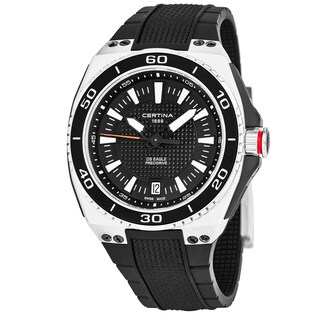 Certina Men's C023.710.27.051.00 'DS Eagle' Black Dial Black Rubber Strap Swiss Quartz Watch