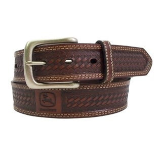 John Deere Men's 1 1/2 Inch Genuine Leather Belt