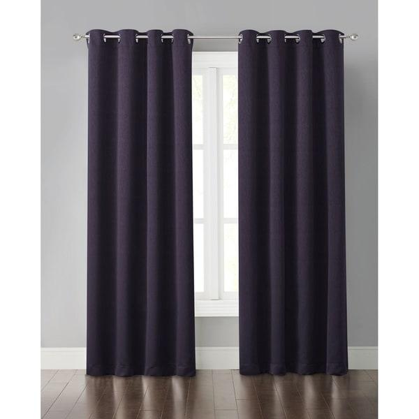 "Wonder Home Miko Solid Blackout Grommet Panel, 50"" * 63"", Purple"