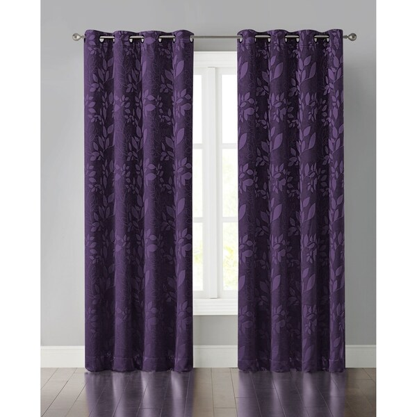 "Wonder Home Abby Jacquard Light Blocking Panel, 50"" * 84"",Purple"