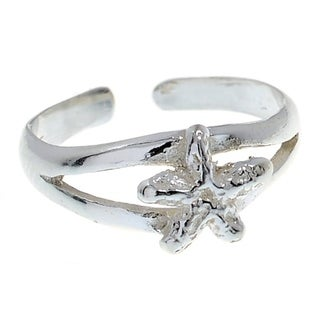 Sterling Silver Starfish Toe Ring Midi Ring