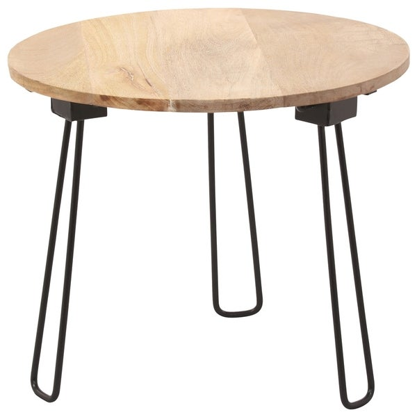 Renwil Sidra Natural Wood Round Accent Table