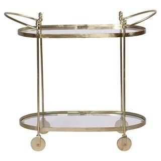 Renwil Aurelius Brass Glass Oval Trolley