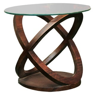Renwil Twist Brown Mango Wood Bohemian-style Accent Table