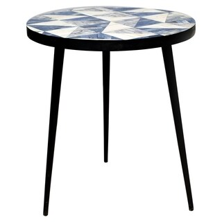 Renwil Hopper Wood Round Accent Table
