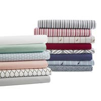 Nautica Cotton Percale Deep Pocket Queen Size Sheet Sets in White (As Is Item)