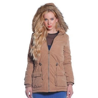 Ladies Faux Fur Lined Peach Skin Jacket by Special One