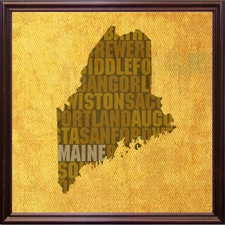 "Maine State Words Framed Print 11.75""x11.75"" by David Bowman (2 options available)"