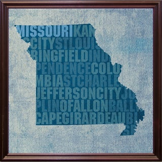 "Missouri State Words Framed Print 11.75""x11.75"" by David Bowman (2 options available)"