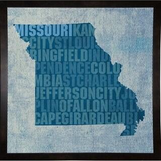 "Missouri State Words Framed Print 11.75""x11.75"" by David Bowman"
