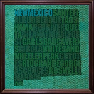 "New Mexico State Words Framed Print 11.75""x11.75"" by David Bowman (2 options available)"