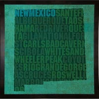 "New Mexico State Words Framed Print 11.75""x11.75"" by David Bowman"