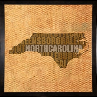 "North Carolina State Words Framed Print 11.75""x11.75"" by David Bowman"