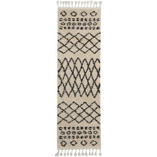 Nourison Moroccan Marrakesh Shag Cream Runner Rug (2'2 X8'1 )
