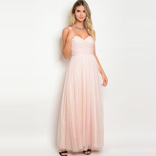 Shop The Trends Women's Sleeveless Floor Length Evening Gown With Sweatheart Neckline