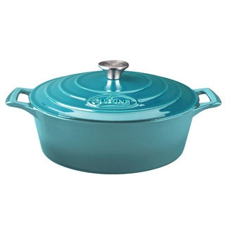 La Cuisine PRO Oval 4.75 Qt. Cast Iron Casserole with Enamel Finish