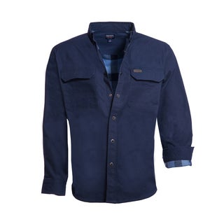 Smith's Workwear Men's Rugged Flannel Lined Canvas Work Shirt
