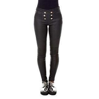 Sara Boo Button Front Leggings