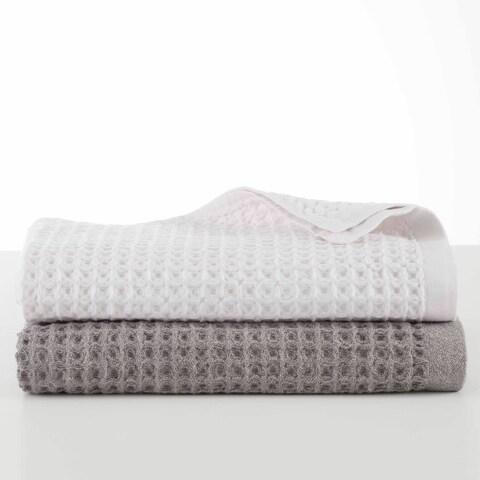 FlatIron Flax Waffle Weave 6 Piece Towel Set