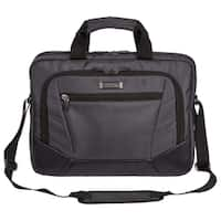 Kenneth Cole Reaction Slim Dual Compartment Top ZIp 15.6-inch Laptop Briefcase