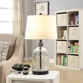 "Woodburn Metal and Glass 26.5"" Table Lamp - N/A"