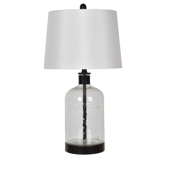 "Woodburn Metal and Glass 26.5"" Table Lamp"