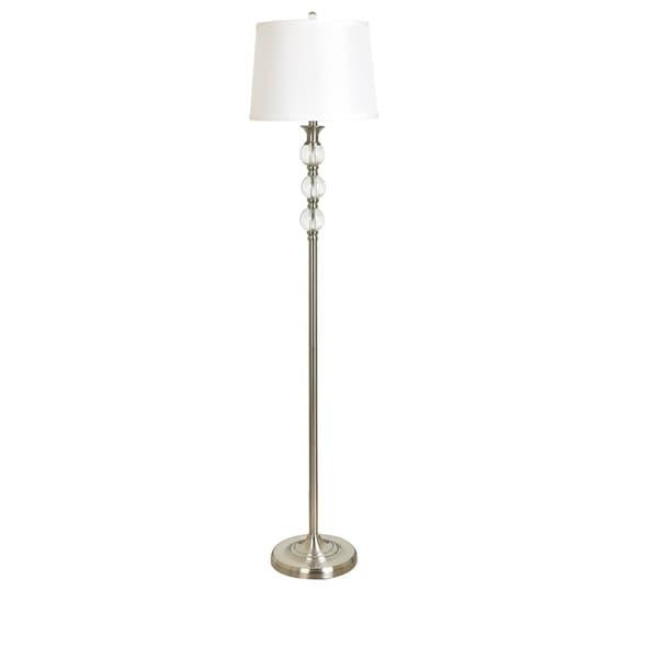 Sapphira Crystal and Metal 61.5-inch Floor Lamp