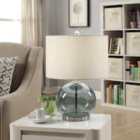 "Dauphin Metal and Glass 20.5"" Table Lamp"