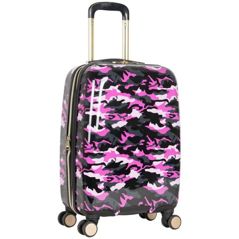 Aimee Kestenberg Sergeant Collection 20-inch Hardside Camo Printed 8-Wheel Expandable Carry-On Suitcase