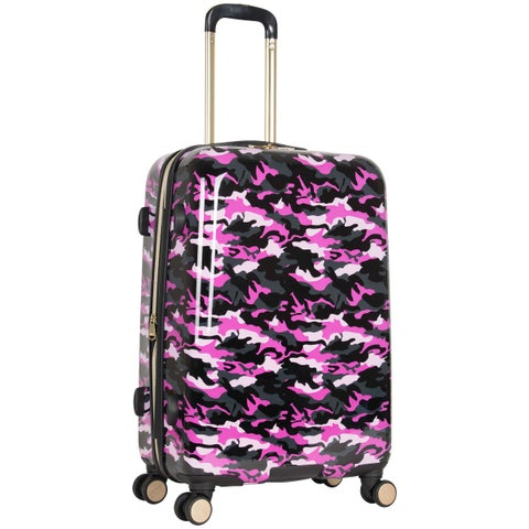 Aimee Kestenberg Sergeant Collection 24-inch Hardside Camo Printed 8-Wheel Expandable Suitcase