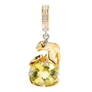 Michael Valitutti Palladium Silver Ouro Verde Sculpted Panther Drop Charm|https://ak1.ostkcdn.com/images/products/18029759/P24197038.jpg?impolicy=medium