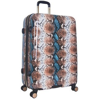 Aimee Kestenberg Aruba Collection 28-inch Hardside Python Printed 8-Wheel Expandable Suitcase