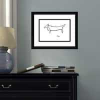 Framed Art Print 'Le Chien (The Dog)' by Pablo Picasso 15 x 12-inch