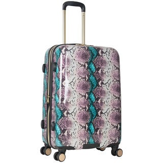Aimee Kestenberg Aruba Collection 24-inch Hardside Python Printed 8-Wheel Expandable Suitcase