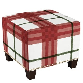 Homepop Mid Mod Oval Stool Wood Legs In Black And White