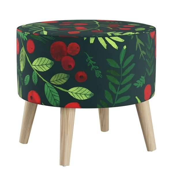 Skyline Furniture Ottoman In Holly Evergreen