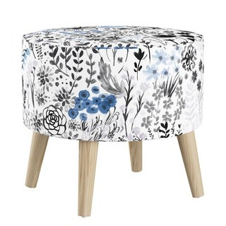 Skyline Furniture Ottoman In Winter Botanical