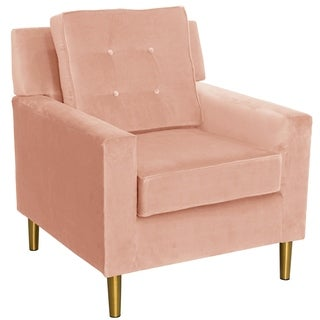 Skyline Furniture Accent Chair with Metal Legs in Velvet
