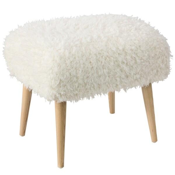 Skyline Furniture Ottman in Nordic Shag Polar