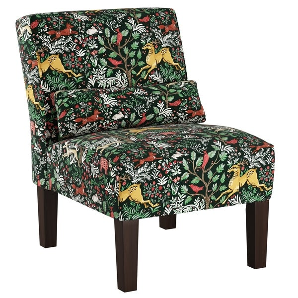 Superieur Skyline Furniture Accent Chair In Frolic Evergreen