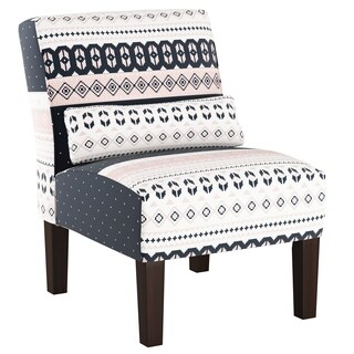 Skyline Furniture Accent Chair in Nordic Sweater Navy Blush