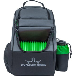 Dynamic Discs Trooper Backpack, Black/Green