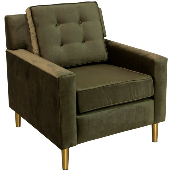 Skyline Furniture Accent Chair With Metal Legs In Majestic