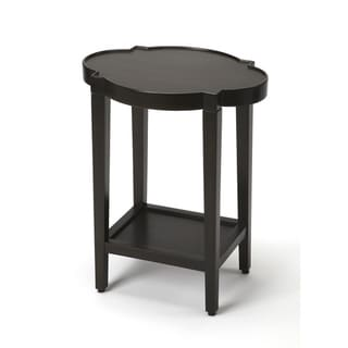 Handmade Butler Jobert Black Quatrefoil End Table